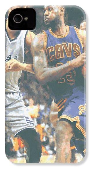 Cleveland Cavaliers Lebron James 4 IPhone 4 / 4s Case by Joe Hamilton