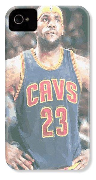 Cleveland Cavaliers Lebron James 5 IPhone 4 / 4s Case by Joe Hamilton