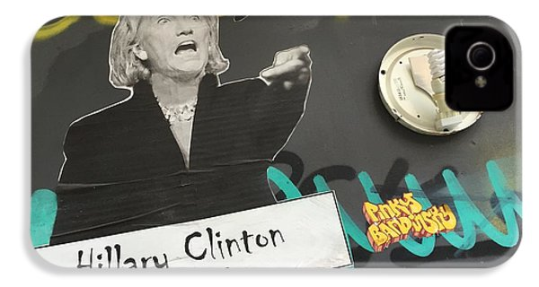 Clinton Message To Donald Trump IPhone 4 / 4s Case by Funkpix Photo Hunter