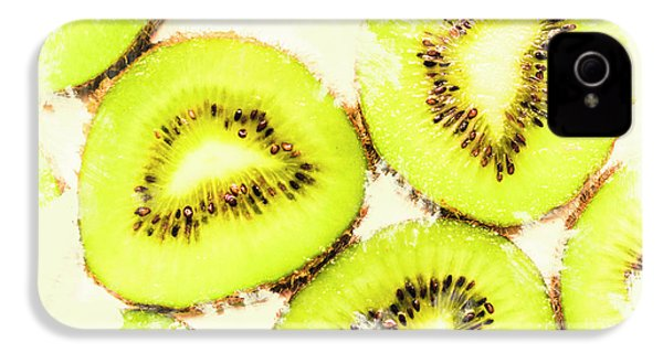 Close Up Of Kiwi Slices IPhone 4 / 4s Case by Jorgo Photography - Wall Art Gallery