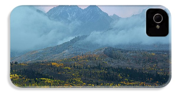 IPhone 4 Case featuring the photograph Cloudy Peaks by Aaron Spong