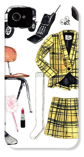 Clueless Movie Collage 90's Fashion IPhone 4 Case by Laura Row