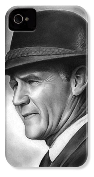 Coach Tom Landry IPhone 4 Case by Greg Joens