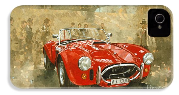 Cobra At Brooklands IPhone 4 Case by Peter Miller
