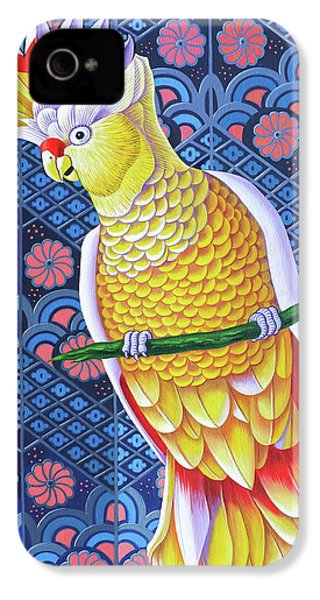 Cockatoo IPhone 4 Case by Jane Tattersfield