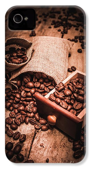 Coffee Bean Art IPhone 4 Case