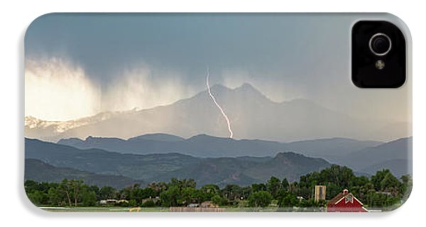 IPhone 4 Case featuring the photograph Colorado Front Range Lightning And Rain Panorama View by James BO Insogna