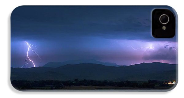 IPhone 4 Case featuring the photograph Colorado Rocky Mountain Foothills Storm by James BO Insogna