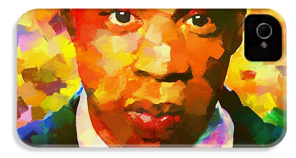 Colorful Jay Z Palette Knife IPhone 4 Case by Dan Sproul