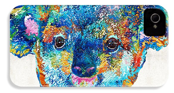 Colorful Koala Bear Art By Sharon Cummings IPhone 4 / 4s Case by Sharon Cummings