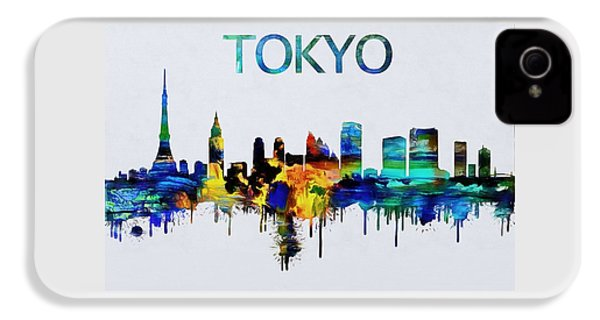 Colorful Tokyo Skyline Silhouette IPhone 4 Case by Dan Sproul