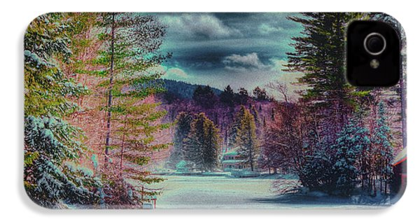 IPhone 4 Case featuring the photograph Colorful Winter Wonderland by David Patterson