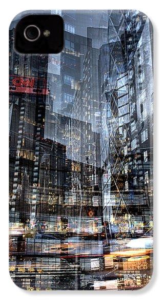 Columbus Circle Collage 1 IPhone 4 Case by Dave Beckerman