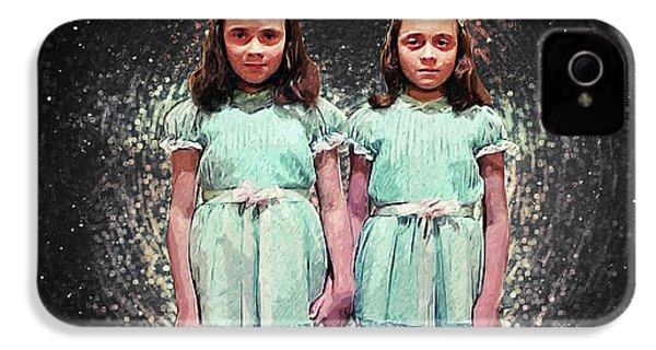 Come Play With Us - The Shining Twins IPhone 4 Case by Taylan Apukovska