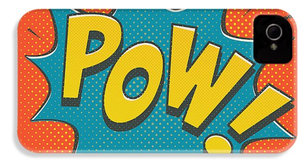 Comic Pow IPhone 4 Case by Mitch Frey