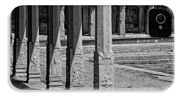 IPhone 4 Case featuring the photograph Composition Of Pillars, Hampi, 2017 by Hitendra SINKAR
