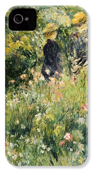 Conversation In A Rose Garden IPhone 4 Case by Pierre Auguste Renoir