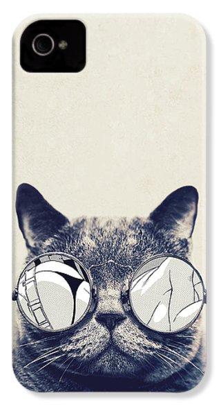 Cool Cat IPhone 4 Case by Vitor Costa