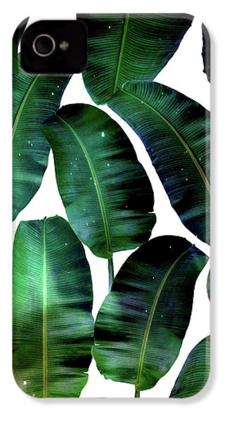 Cosmic Banana Leaves IPhone 4 / 4s Case by Uma Gokhale