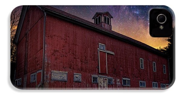 IPhone 4 Case featuring the photograph Cosmic Barn Square by Bill Wakeley