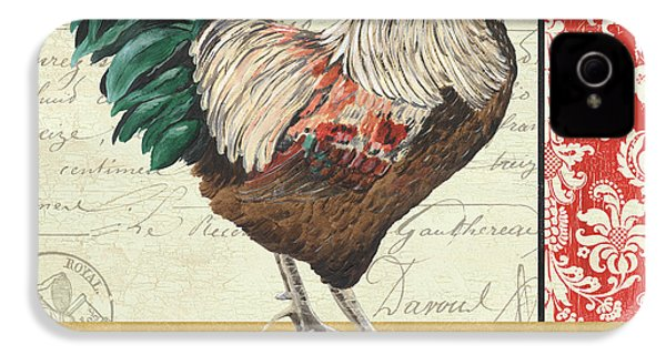 Country Rooster 1 IPhone 4 Case by Debbie DeWitt