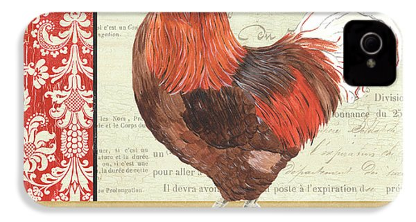 Country Rooster 2 IPhone 4 Case by Debbie DeWitt