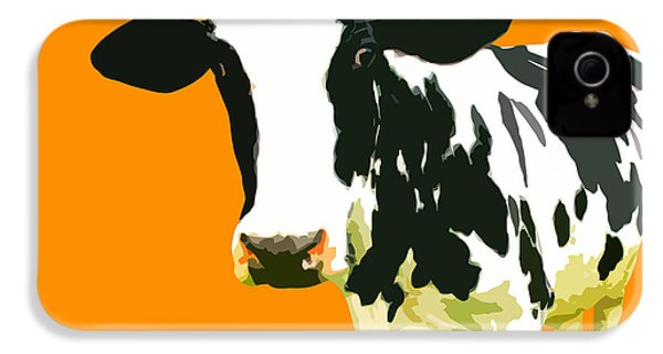 Cow In Orange World IPhone 4 Case by Peter Oconor