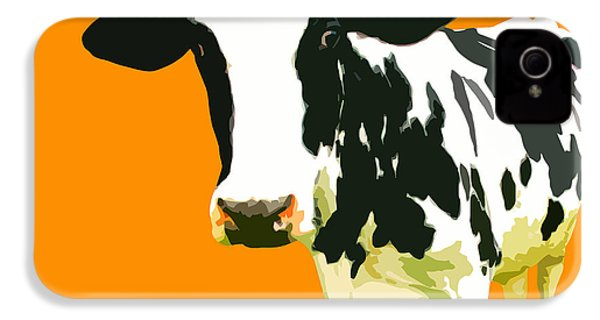 Cow In Orange World IPhone 4 Case