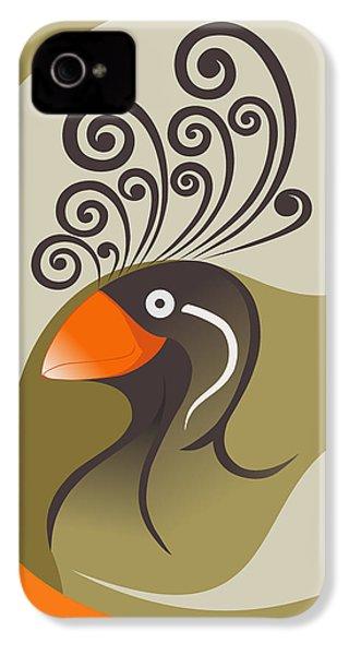 crestedAUKLET IPhone 4 Case by Mariabelones ART