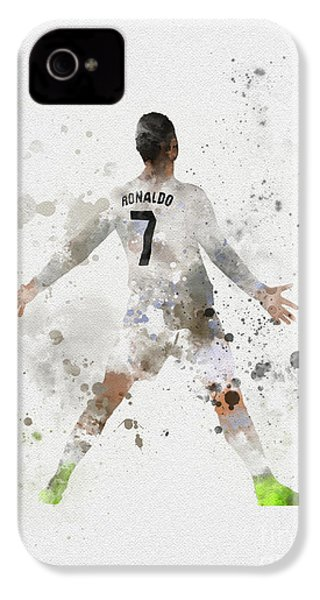 Cristiano Ronaldo IPhone 4 Case by Rebecca Jenkins
