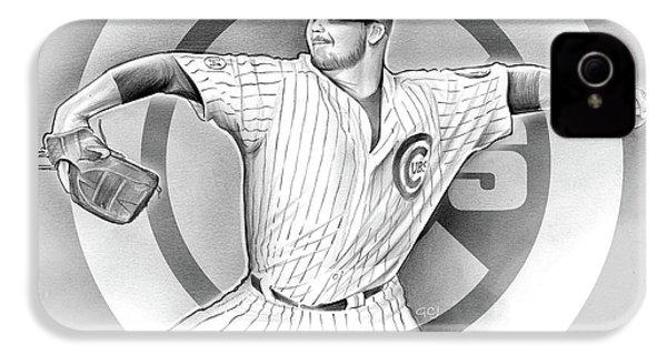 Cubs 2016 IPhone 4 Case by Greg Joens