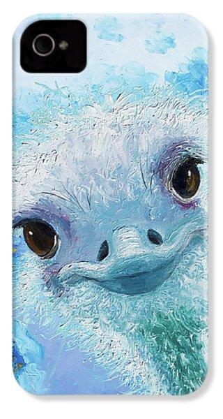Curious Ostrich IPhone 4 Case by Jan Matson
