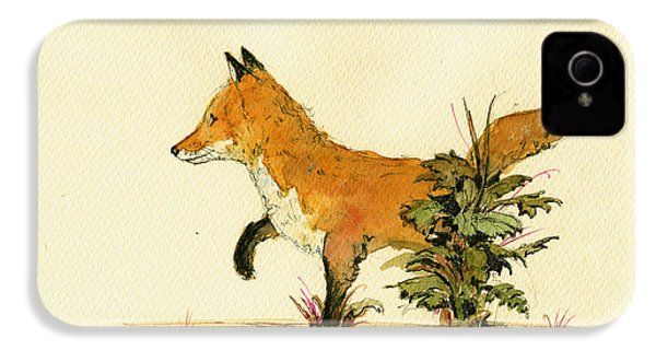 Cute Fox In The Forest IPhone 4 Case