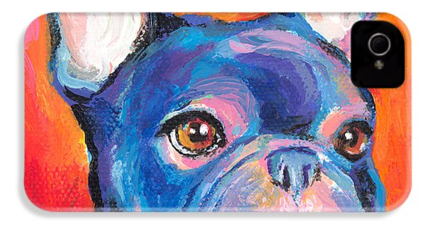 Cute French Bulldog Painting Prints IPhone 4 Case