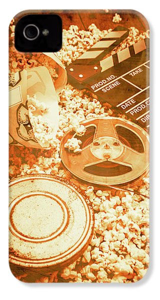 Cutting A Scene Of Vintage Film IPhone 4 Case
