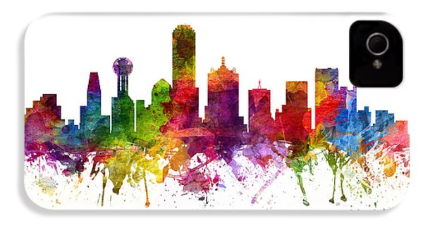 Dallas Cityscape 06 IPhone 4 / 4s Case by Aged Pixel