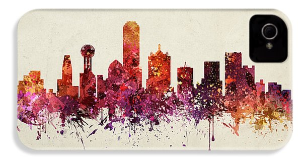 Dallas Cityscape 09 IPhone 4 / 4s Case by Aged Pixel