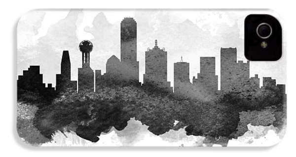 Dallas Cityscape 11 IPhone 4 Case by Aged Pixel
