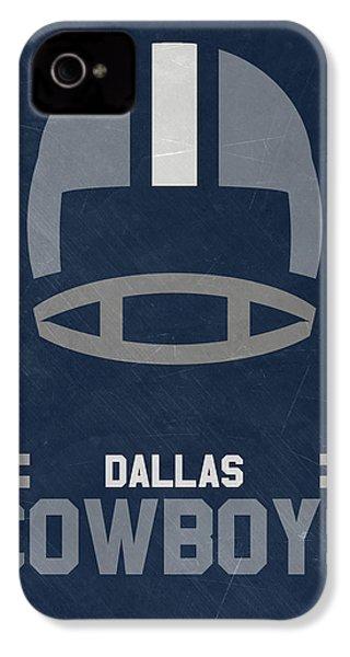 Dallas Cowboys Vintage Art IPhone 4 Case by Joe Hamilton