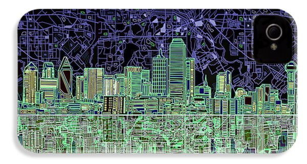 Dallas Skyline Abstract 4 IPhone 4 Case