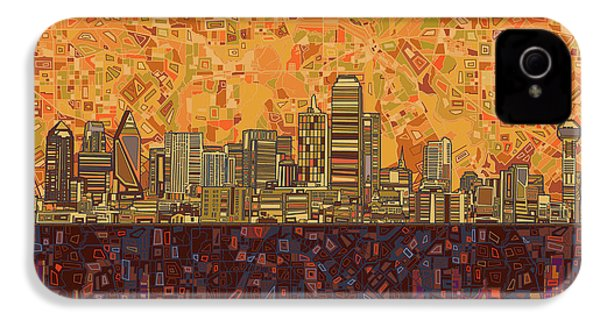 Dallas Skyline Abstract IPhone 4 Case