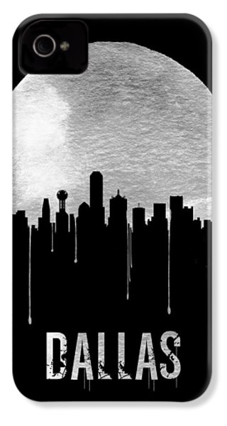 Dallas Skyline Black IPhone 4 Case by Naxart Studio