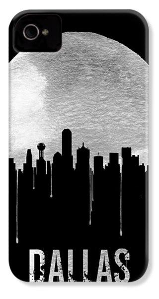 Dallas Skyline Black IPhone 4 Case