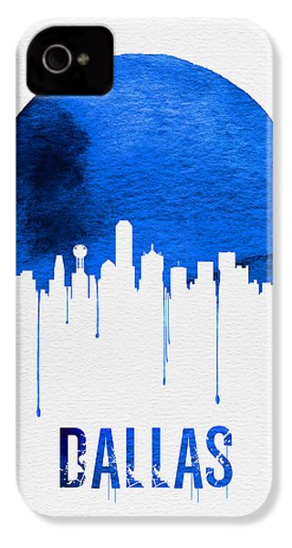 Dallas Skyline Blue IPhone 4 Case by Naxart Studio