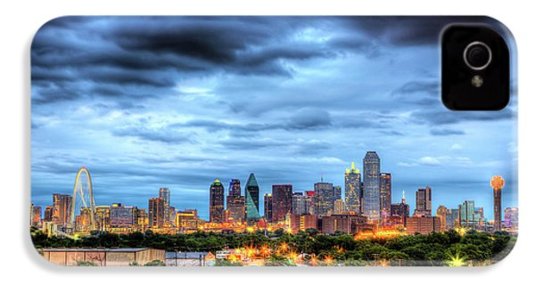 Dallas Skyline IPhone 4 Case by Shawn Everhart