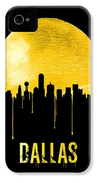 Dallas Skyline Yellow IPhone 4 Case by Naxart Studio