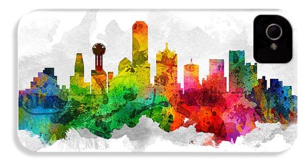 Dallas Texas Cityscape 12 IPhone 4 Case