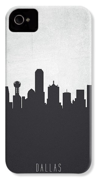 Dallas Texas Cityscape 19 IPhone 4 Case by Aged Pixel
