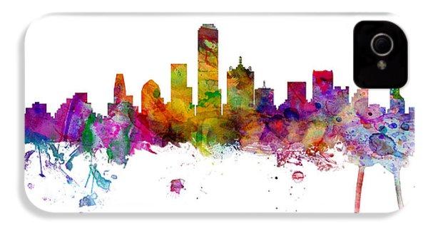 Dallas Texas Skyline Panoramic IPhone 4 Case