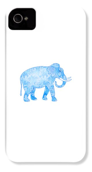 Damask Pattern Elephant IPhone 4 Case by Antique Images